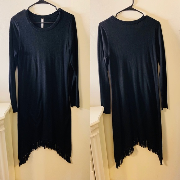 kenzie Dresses & Skirts - ALL BLACK DRESS // COTTON WITH FRINGES